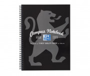 Oxford Campus A4+ Card Cover Wirebound Notebook Ruled with Margin 140 Pages Black -  - 400066528_1100_1561077120