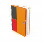 OXFORD International Notebook - B5 - Harde kartonnen kaft - Dubbelspiraal - Gelijnd - 80 vel - SCRIBZEE® Compatible - Oranje - 400080785_1600_1583243419