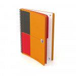 OXFORD International Activebook - B5 - Polypropylene Cover - Twin-wire - Narrow Ruled - 160 Pages - SCRIBZEE® Compatible - Orange - 400080787_1600_1583243425