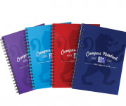 Oxford Campus B5+ Hardback Wirebound Notebook Ruled with Margin 140 Pages Assorted -  - 400086366_1200_1553646507