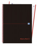 OXFORD BLACK N'RED Europeanbook 1 - A4+ - Tapa Extradura - Cuaderno espiral microperforado - 5x5 - 80 Hojas - SCRIBZEE - ROJO - 400088244_1100_1559319423