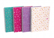 OXFORD Floral Notebook - B5 - Soft Card Cover - Twin-wire - 5mm Squares - 120 Pages - SCRIBZEE® Compatible - Assorted Colours - 400094955_1400_1594063696