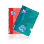 Oxford Schulheft OpenFlex® - A4 - Lineatur 25 (liniert mit breitem, weißem Rand rechts) - 32 Blatt - 90 g/m² OPTIK PAPER® - geheftet - Koralle und Aqua - 400095631_1200_1553593927