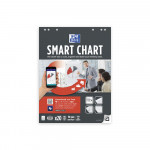 OXFORD Smart Charts Flipchart Refill Pad - 60x80cm - Soft Card Cover - Glued - 25mm Squares - 20 Sheets - SCRIBZEE® Compatible - 400096275_1100_1583159718