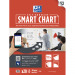 OXFORD Smart Charts Flipchart Refill Pad - 60x80cm - Soft Card Cover - Glued - Plain - 20 Sheets - SCRIBZEE® Compatible - 400096276_1100_1559683474