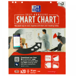 OXFORD Smart Charts Flipchart Refill Pad - 60x80cm - Soft Card Cover - Glued - Plain - 20 Sheets - SCRIBZEE® Compatible - 400096276_1100_1605603625