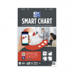 OXFORD Smart Charts Flipchart Refill Pad - 65x98cm - Soft Card Cover - Glued - Plain - 20 Sheets - SCRIBZEE® Compatible - 400096277_1100_1583159780
