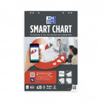 OXFORD Smart Charts Flipchart Refill Pad - 65x98cm - Soft Card Cover - Glued - 25mm Squares - 20 Sheets - SCRIBZEE® Compatible - 400096278_1100_1583159788