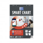 OXFORD Smart Charts Flipchart Refill Pad - 68x98cm - Soft Card Cover - Glued - Plain - 20 Sheets - SCRIBZEE® Compatible - 400096279_1100_1583159795