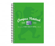Oxford Campus A5+ Card Cover Wirebound Notebook Ruled with Margin 140 Pages Green -  - 400103080_1100_1561077104