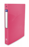 OXFORD OSMOSE RING BINDER - A4 - 40 mm spine - 4-O rings - Polypropylene - Translucent - Pink - 400105144_8000_1561110608