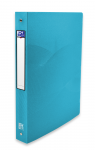 OXFORD OSMOSE RING BINDER - A4 - 40 mm spine - 4-O rings - Polypropylene - Translucent - Turquoise blue - 400105145_8000_1561110610