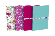 OXFORD Floral Notebook - 9x14cm - Soft Card Cover - Stapled - Ruled - 60 Pages - Assorted Colours - 400111055_1400_1553574036