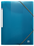 OXFORD SCHOOL LIFE 3-FLAP FOLDER - A4 - Polypropylene - Translucent - Turquoise blue - 400111320_1100_1574075529