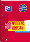 OXFORD FEUILLES SIMPLES DETACHABLES - A4 - couverture carte - Grands carreaux Seyès - 300 pages perforées - 400114566_1100_1578070597