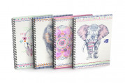 OXFORD Boho Chic - B5 - Hard Cover - Twin-wire Notebook - 5mm Squares - 120 Pages - Assorted Colours - Scribzee Enabled - 400124699_1200_1561112943