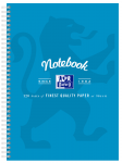 OXFORD NOTEBOOK - A4 -  Laminated Board Cover - Twin Wire - 120pages- 8mm ruled with margin - 400128537_1100_1573144865
