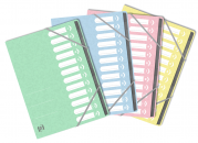 TRIEUR OXFORD TOP FILE+ A4 AGRAFE 12 POSITIONS ASSORTIS PASTEL -  - 400132134_1200_1562323463