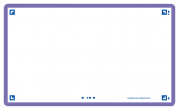OXFORD FLASH 2.0 flashcards - blank with violet frame, 7,5 x 12,5 cm, pack of 80 - 400133889_1100_1573401133