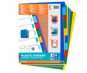 Oxford intercalaires couleurs plastique
