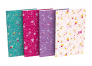 OXFORD Floral Notebook - 9x14cm - Soft Card Cover - Stapled - Ruled - 60 Pages - Assorted Colours - 400111055_1400_1594062098
